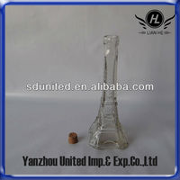 40ml,200ml,350ml eiffel tower glass bottle