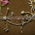 2017 Lolita Olive Shape Marquise Stones Wedding Hair Accessories for Women Bride