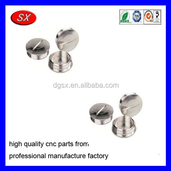 customized CNC Turned Part stainless steel Hole Plugs Metal Metric threaded Plugs motor spare part
