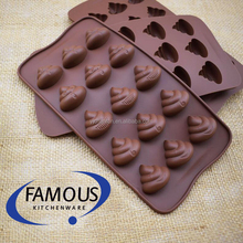 bakeware cake tools poop shaped silicone baking mold for cake / cookie / biscuit / candy / chocolate / jelly / fondant