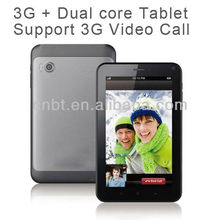 Hot sale 7inch 3g modem tablet pc Support 3G Video Call