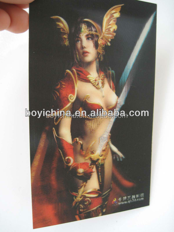 Cartoon Pattern Printing 3D Lenticular Nude Girl Picture Poster For Promotion