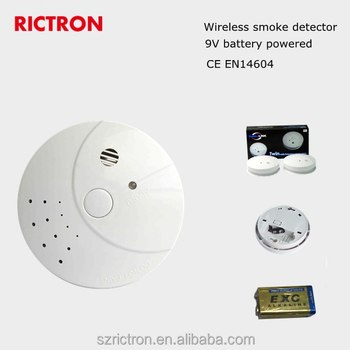 optical and battery operated wireless smoke alarm detector en 14604 approval buy battery. Black Bedroom Furniture Sets. Home Design Ideas