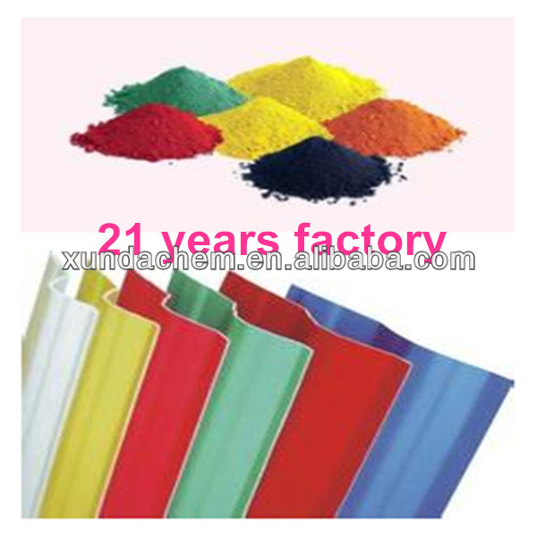 factory sell iron oxide color pigments for pvc