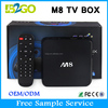Free channels provided M8 unlock cable tv box Support external hard disk