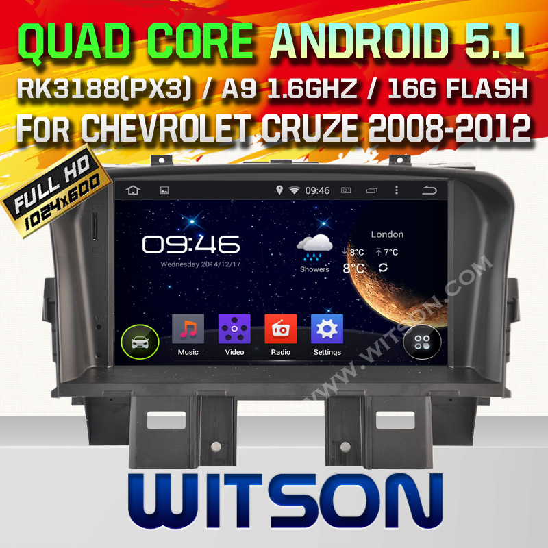 WITSON ANDROID 4.4 FOR CHEVROLET CRUZE CAR RADIO NAVIGATION SYSTEM WITH CAPACTIVE SCREEN BLUETOOTH RDS 3G WIFI