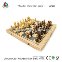 wooden games for adults Wooden Chess 3 In1 game
