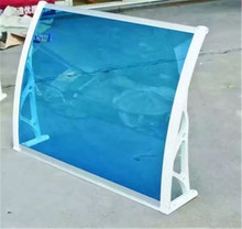 DIY polycarbonate rain protection awning for window transparent