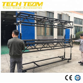 Aluminium Pre-Rig Truss with wheels to hang lights