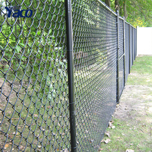 Galvanized cheap yard fencing used Chain link fence 4mm wire diameter 50mm aperture