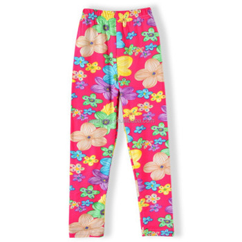 Floral Printed Cotton Children Legging