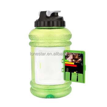Wholesale 2.2L plastic drinking water bottle with custom logo in UK