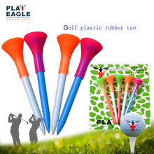 Custom Printing Logo Golf Tee New plastic with Rubber Cushion Top Golf Tees