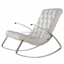 Modern PU recliner chaise lounge rocking chair