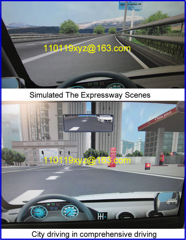 Virtual 3d driving car simulator for driving practice