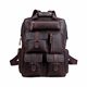 Italian Crazy Horse Genuine Leather Backpack Men Hiking Leather Rucksack