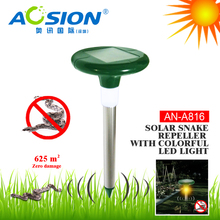 Aosion Wholesale no poison high efficiency sonic solar snake repellent for garden
