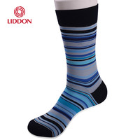 Custom your design business 100 cotton dress socks men new