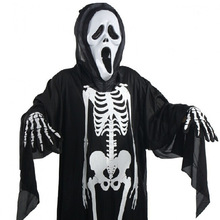 Skeleton Ghost Halloween Costumes Adults For Kids Children