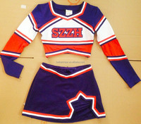 2015 new style:navy and red Cheerleader costumes