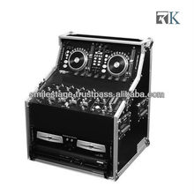 "Flight Cases Rack RK-DJ Workstation-DJWS8 DUAL CD, CONTROL & 19"" MIXER, DJ WORK STATION, TOP RACK 3U, MID 7U & BOT. 8U"