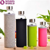 Promotional Gift Borosilicate Glass Water Bottle Private Label