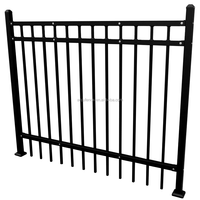 Anju fence factory Powder coating flat top steel pool fence and gate