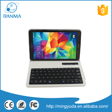 Removable flip cover bluetooth keyboard case for universal tablet