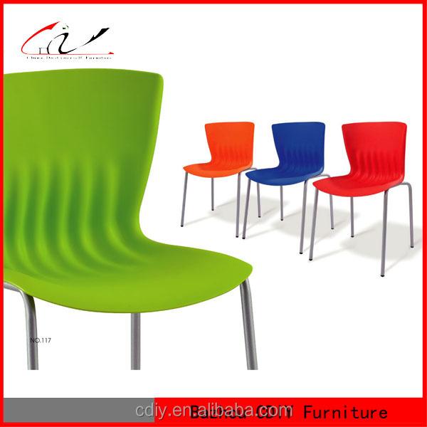 Pc 134 pl stico barato silla de comedor sillas de comedor for Sillas comedor plastico