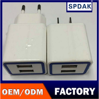 Factory to sell 1500ma/ 2100 ma light to travel around the world line phone usb charger