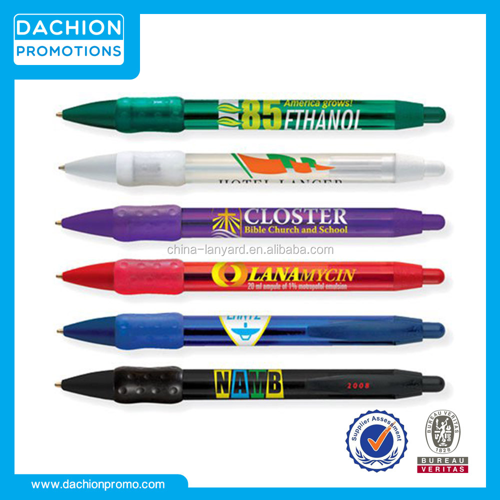 Custom WideBody Clear Grip Pen/promotional cheap pens/cheap promotional items