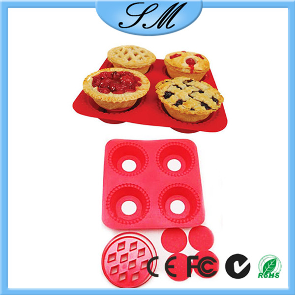 4 cups Silicone DIY cupcake mould cake silicone pie maker