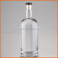 Hot sales customized round clear vodka 700ml glass bottles