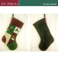 bulk sale connected fabric technique new design christmas stockings with funny pattern