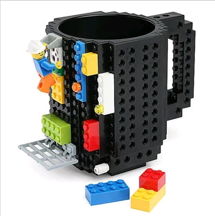Amazon hot selling assembly mug Cross border Lego block <strong>cup</strong> creative personalized mark DIY coffee <strong>cup</strong>