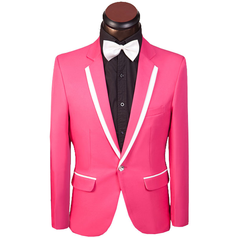 Buy 2015 New Arrival Men Suit Elegant Blue Design Mens Slim Prom ...