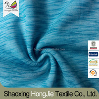 Polyester/Rayon 90/10 Space Dyeing Single Jersey Knitted Fabric For Street Wear