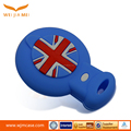 customized silicone protective cover for car key with 3D pattern