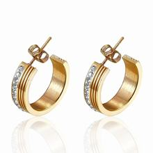 Private label fashion stainless steel gold plated earring
