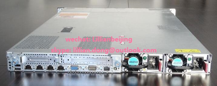 used server H.P. ProLiant DL360 Gen7 server case chassis with motherboard single power supply DL360G7 1U rack server supplier