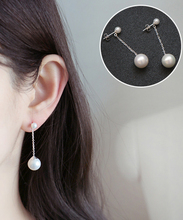 Wholesale jewel silver 925 Thread Dangle Pearl Earring Ladies Jewellery Earring
