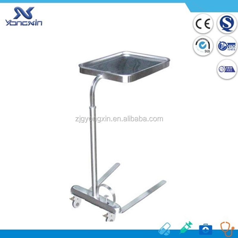 High Quality Stainless Steel Hospital Tray table Mayo Trolley