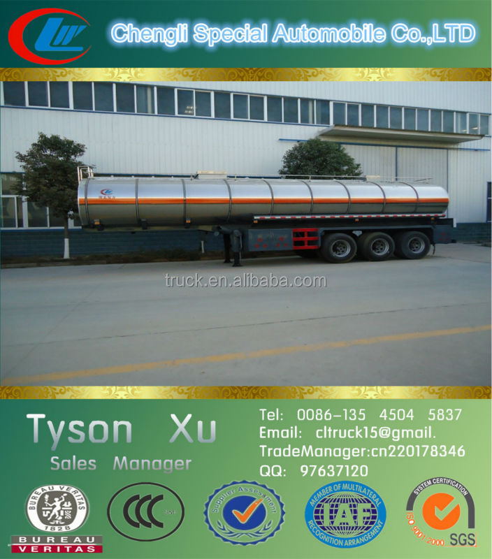 50tons/CBM, 50000liters, 40ft 3 axles steel used transporting container trailers made in China for sale