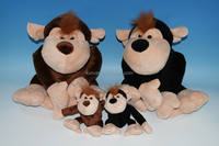 Plush Toys Monkey KXC51494D CE standard /Plush doll/Valentine's animal