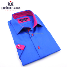 cotton polyester blend fancy dress shirts for men