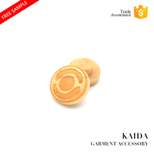 KAIDA custom laser engraved wooden button manufacture