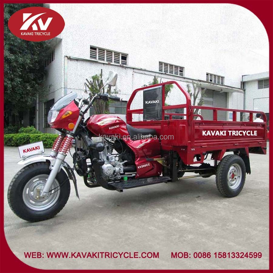 Hot selling three wheel 200cc air-cooled cargo motorcycle for sale in China factory