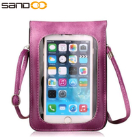 wholesale stylish cross body mobile phone leather bag for women,cell phone waterproof bag