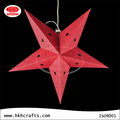 Different colors star shaped paper lamp for chhristmas