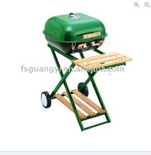 18'' Square Outdoor garden trolly bbq grill